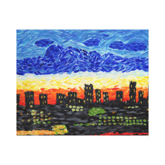 Denver, Co Skyline Canvas Print
