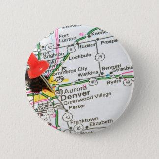 Denver, Colorado 6 Cm Round Badge