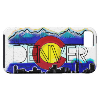 Denver Colorado artistic skyline iphone 5 case