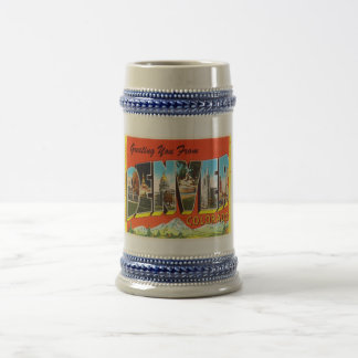 Denver Colorado CO Old Vintage Travel Souvenir Beer Stein
