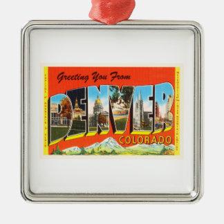 Denver Colorado CO Old Vintage Travel Souvenir Metal Ornament