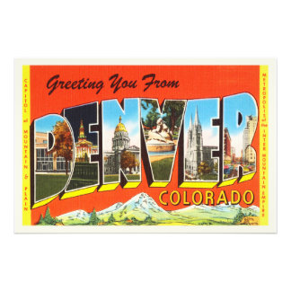 Denver Colorado CO Old Vintage Travel Souvenir Photograph