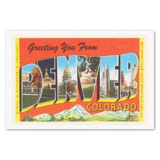 Denver Colorado CO Old Vintage Travel Souvenir Tissue Paper