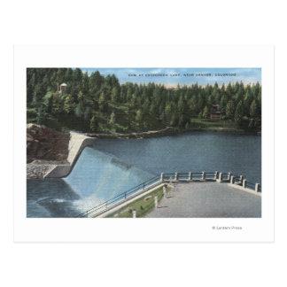 Denver, Colorado - Dam at Evergreen Lake View Postcard