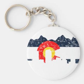 Denver Colorado Flag Keychain
