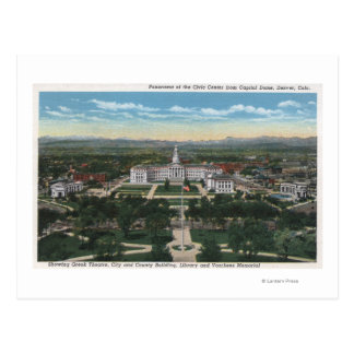 Denver, Colorado - Panorama of Civic Postcard