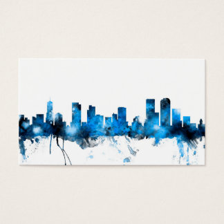 Denver Colorado Skyline Business Card