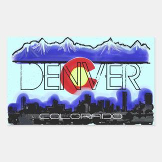 Denver Colorado skyline decorative stickers