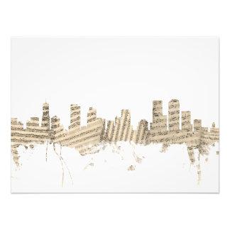Denver Colorado Skyline Sheet Music Cityscape Photo