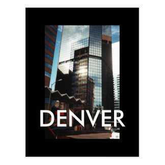 Denver Downtown Skyscrapers Custom Postcard