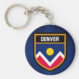 Denver  Flag Key Ring