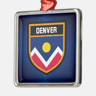Denver  Flag Metal Ornament