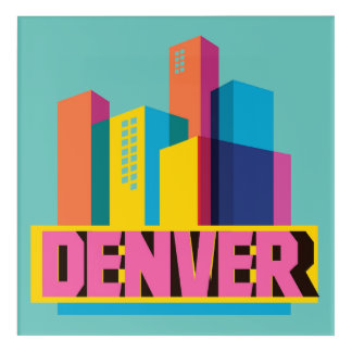 Denver In Design Acrylic Wall Art