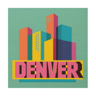 Denver In Design Wood Canvas
