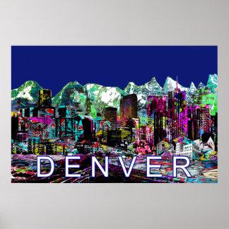 Denver in graffiti poster