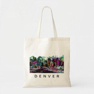 Denver in graffiti tote bag