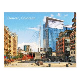 Denver Millennium Bridge, Denver, Colorado Postcard