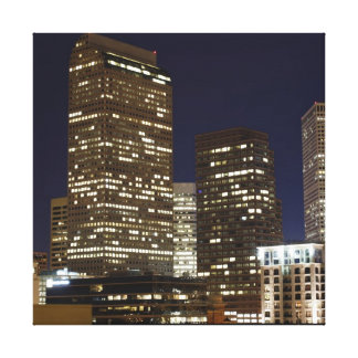 Denver Night Skyline Canvas Print