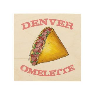 DENVER Omelette Egg Omelet Breakfast Food Kitchen Wood Wall Decor