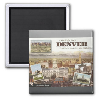 Denver Post Cards From The Mile-High City, Vintage Magnets