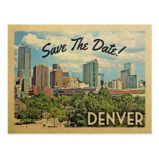 Denver Save The Date Colorado Postcard