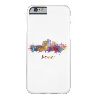 Denver skyline in watercolor barely there iPhone 6 case