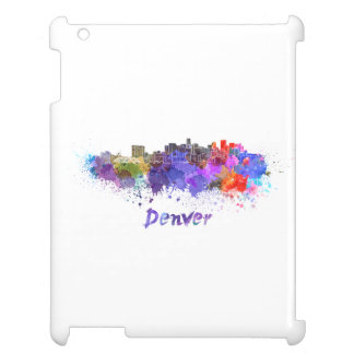 Denver skyline in watercolor case for the iPad 2 3 4