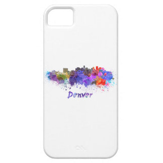 Denver skyline in watercolor iPhone 5 cover