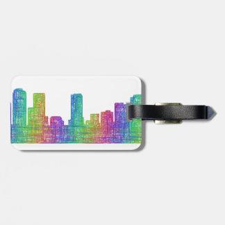 Denver skyline luggage tag