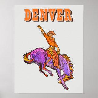 Denver travel poster