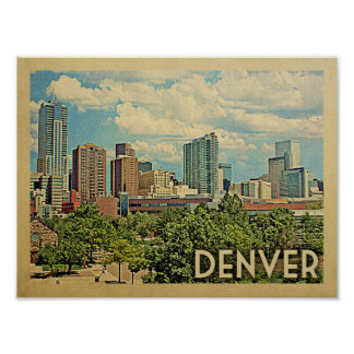 Denver Vintage Travel Poster