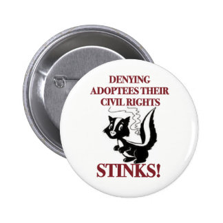 Denying Civil Rights 6 Cm Round Badge