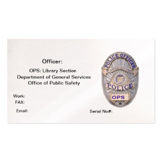 Department of General Services Office of Public Sa Pack Of Standard Business Cards