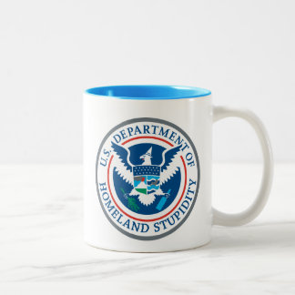 Department of Homeland Stupidity Two-Tone Coffee Mug