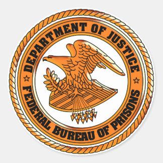Department of Justice - Law sticker Round Sticker