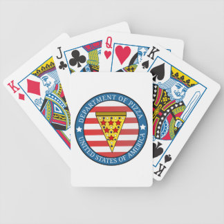 Department of Pizza Bicycle Playing Cards