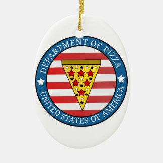 Department of Pizza Ceramic Ornament