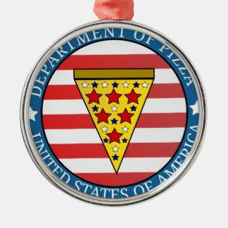 Department of Pizza Metal Ornament
