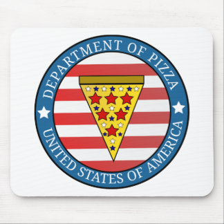 Department of Pizza Mouse Pad