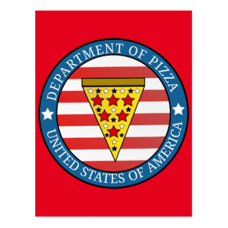 Department of Pizza Postcard