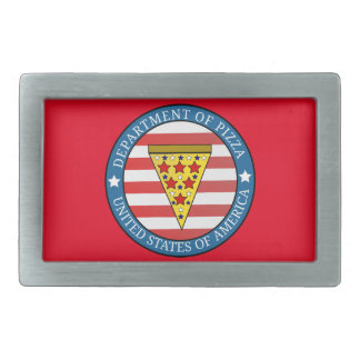 Department of Pizza Rectangular Belt Buckle