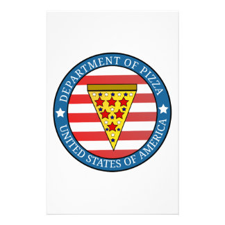 Department of Pizza Stationery