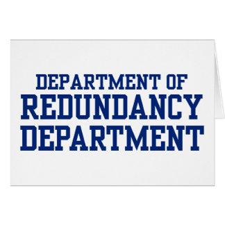 department of redundancy card