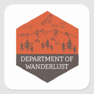 Department of Wanderlust Square Sticker
