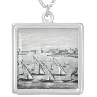 Departure from Khartoum Silver Plated Necklace