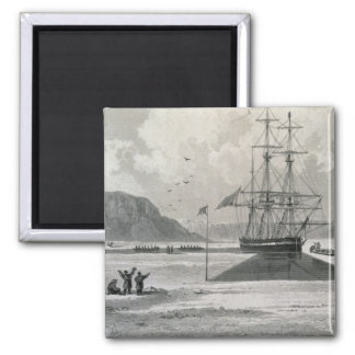 Departure of the boats from Hecla Cove, June 21, 1 Square Magnet