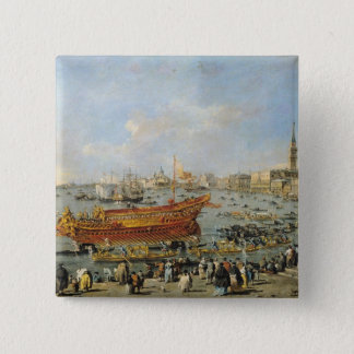 Departure of the 'Bucentaur' for the Lido 15 Cm Square Badge
