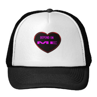 Depend on Me White love story Trucker Hat