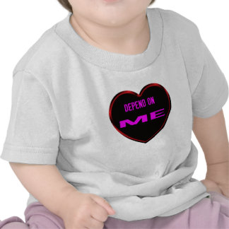 Depend on Me White love story Shirts