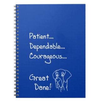 Dependable great dane notebook